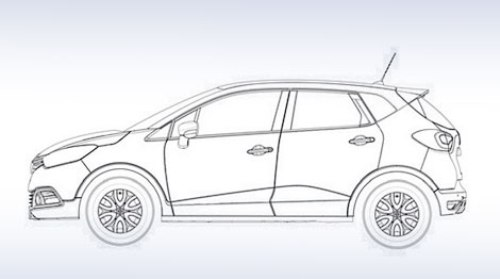 Renault Captur вид сбоку